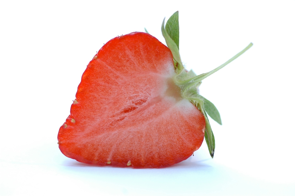 A picture of a strawberry that looks suspiciously like a vulva